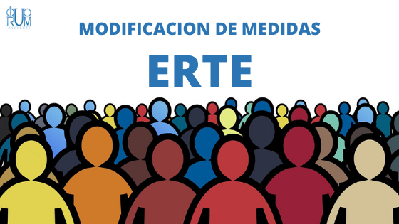Resumen modificación medidas ERTES, despidos y suspensión de contratos